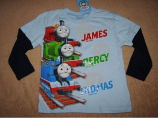 Thomas Tank Engine Thomas Percy James L s Layer Tee Shirt 3T