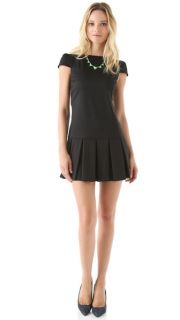alice + olivia Demi Drop Waist Dress