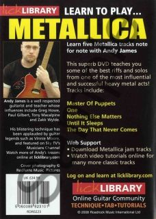 Learn to Play Metallica Vol 2 Lick Library Guitar DVD
