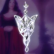 Arwen evenstar pendant necklace Lord of the Rings LOTR Fairy Princess