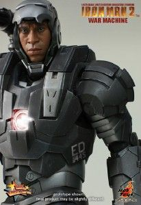 Hot Toys 12 Iron Man 2 War Machine LED Light Up Figure