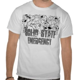 Solid State Emergency White T Tee Shirts