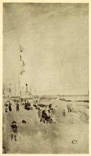 1911 Print James Abbott McNeill Whistler Art Painting Coastal Beach