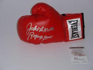 Jake LaMotta Raging Bull Inscrp Signed Everlast Boxing Glove JSA