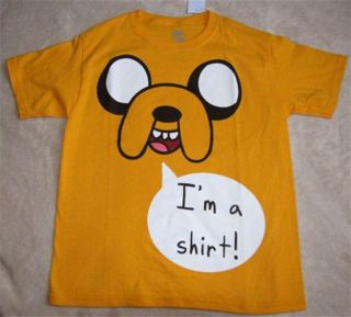 Adventure Time Jake IM A Shirt s s Tee T Shirt Sz 12 14