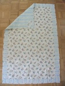 Handmade Baby Crib Quilt 55x35 Bearly Growing Teddy Bears Farm