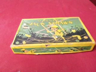 Antiqe Vintage 1920s Magnetic Jack Straw Board Game