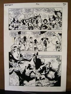 Jack Kirbys Teenagents 2 Page 6 1983 Original Art by Neil Vokes T0PPS