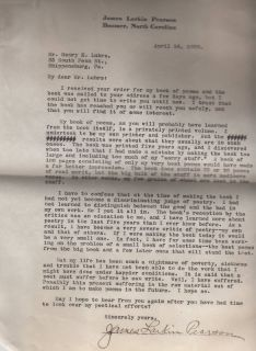 American Poet James Larkin Pearson Typed Letter Signed