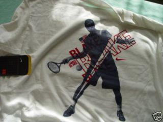 New Nike DriFit James Blake Tennis T Shirt Sz L