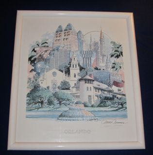 James Conner City of Orlando Matted Framed Print Le
