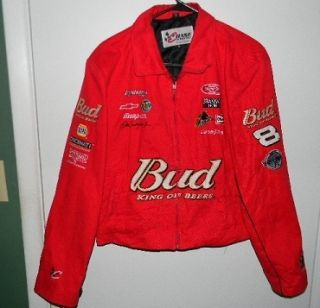 Dale Earnhardt Jr Jacket 8 Budweiser Ladies Cut Size XL Womens Jacket
