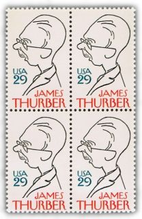 Famous Author James Thurber on U s Postage Stamps