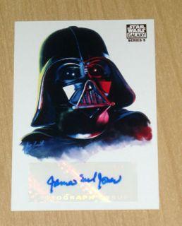 Topps Star Wars Galaxy 5 Darth Vader Autograph James Earl Jones