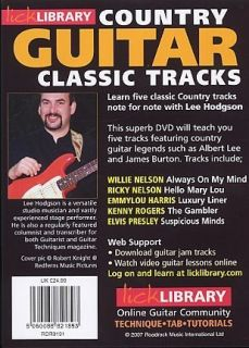 Learn Country Guitar Classic Tracks Lick Library DVD Willie Nelson