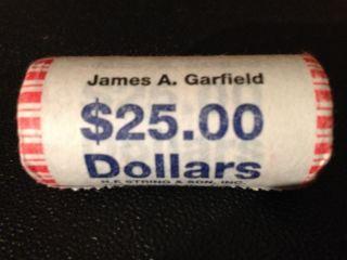 JAMES GARFIELD 2011 Presidential Gold Dollar Coin Box Roll