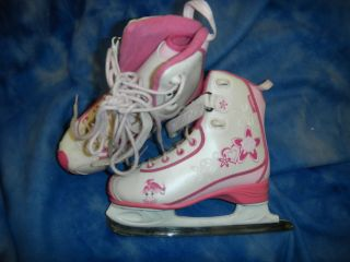 CCM Jamie Girl Pink Ice Figure Skates Girl Youth 1