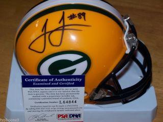 James Jones Packers Signed Mini Helmet w PSA COA
