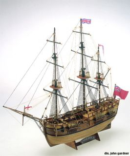 Mamoli HMS Endeavour James Cook Wood SHIP Model Kit New Boat Planking