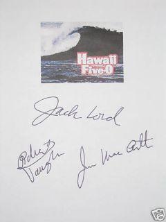 Signed TV Script X3 Jack Lord James MacArthur Vaughn 5 0 reprint