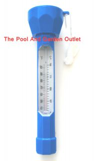 Thermometer, Blue w/ String Cord for Swimming Pool Spa Hot Tub Jacuzzi