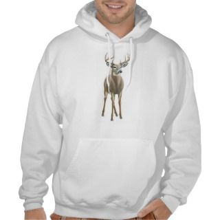 Whitetail Deer Buck Hooded Sweatshirt