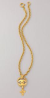 WGACA Vintage Vintage Chanel Gold Cross Necklace