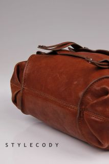 448 Kooba Womens Jane Leather Crossbody Satchel Bag Brown