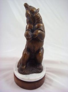 Bronze Bear Sculpture Marble / Wood Base   Gerald Balciar   1996   78