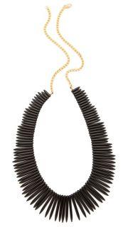 Kenneth Jay Lane Black Stick Necklace