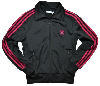 Adidas Womens Firebird Track Jacket Black Sharp Red O57513
