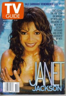 TV Guide March 10 2001 Janet Jackson Dale Earnhardt Remembered Nice
