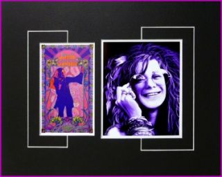 Janis Joplin Bob Masse Signed Poster Display Woodstock Big Brother