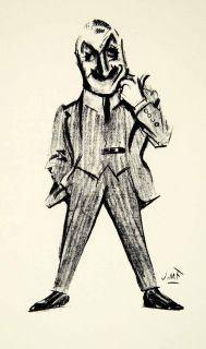 1951 Print John Drew James Montgomery Flagg Caricature Cartoon Suit