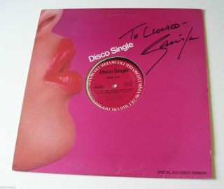 Janis Ian Signed Cover 1979 Columbia 12 Single Fly Too High B w Night
