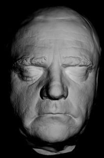 James Cagney Life Mask Life Size Casting in Light Weight White Resin