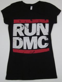 Run DMC JMJ T Shirt Jam Master Jay Rap Hip Hop Womens Juniors Slim Fit