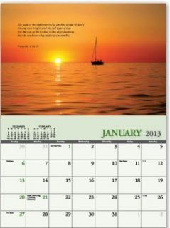inspirational mark Psalm Isaiah James Bible Verses 2013 wall Calendar