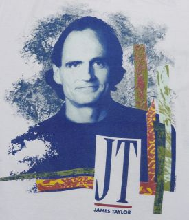 Vintage James Taylor 1990 Concert Tour T Shirt XL