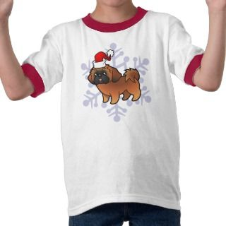 Christmas Shih Tzu (red puppy cut) T Shirts