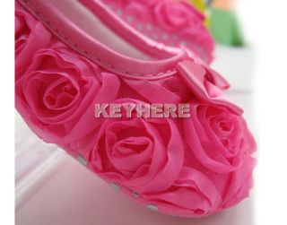 New Baby Shoes Mary Jane Girls Toddler Dress Soft Sole Pink Rose