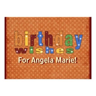 Birthday Wishes Custom Announcements