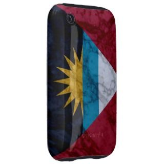 Antigua & Barbuda Marble iPhone 3 Tough Case