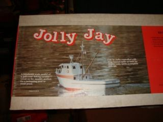 Dumas RC Wood Model Jolly Jay Fishing Boat Kit New in Box
