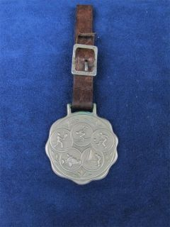 Vintage Lucky Sports Metal Watch Fob with Strap Jani K