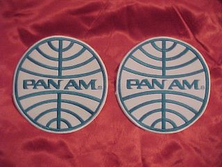 PAN AMERICAN AIRWAYS PAN AM MAINTENANCE CREW UNIFORM GLOBE 2 PATCH LOT