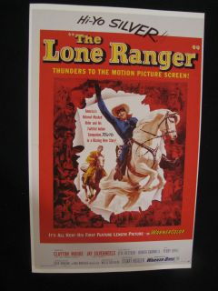 Movie Poster 1956 The Lone Ranger Clayton Moore Jay Silverheels