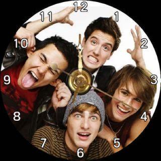 Big Time Rush Band BTR James Maslow Kendall Schmidt CD Clock