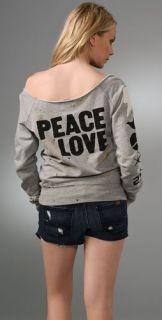 291 Peace & Love Off Shoulder Sweatshirt