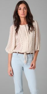 Tbags Los Angeles Swiss Dot Blouse